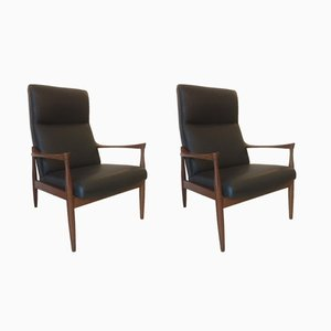 Easy Chairs by Ib Kofod Larsen for G Plan, 1962, Set of 2