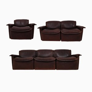 Mid-Century DS-12 Leather Seating Group from de Sede
