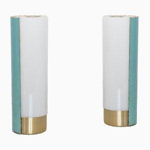 Vintage Tischlampe aus Plexiglas & Metall von Mario Pasetto für Stilux Milano, 1960s, 2er Set