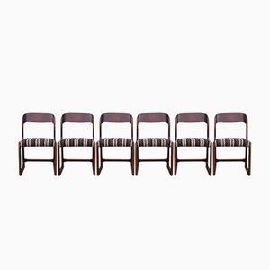 Gestreifte Vintage Stühle von Baumann, 1960er, 6er Set