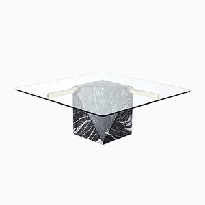 Italian Brass and Marble Coffee Table from Artedi, 1970s