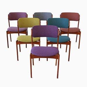 Danish Teak Dining Chairs by Erik Buck for Oddense Maskinsnedkeri / O.D. Møbler, 1960s, Set of 6