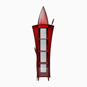 Red and Black Sculptural Cabinet by Bohuslav Horak, 1990s