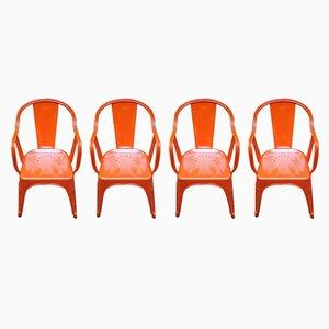 Vintage Tolix Chairs von Xavier Pauchard für 15WEST Studio, 4er Set