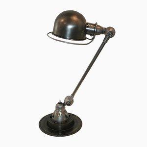 Industrielle graphitfarbene Vintage Lampe von Jean-Louis Domecq für Jieldé