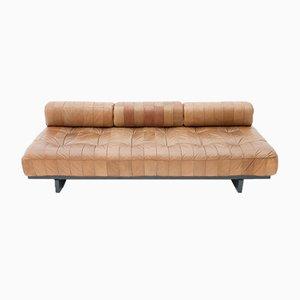 Sofá cama DS-80 de retales de cuero de de Sede, años 70