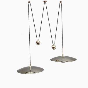Lampe à Suspension Double Onos 55 avec Contrepoids par Florian Schulz, 1970s