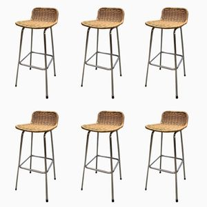 Vintage Barstools from Rohé Noordwolde, Set of 6