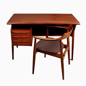Vintage Desk and Chair by Gunnar Nielsen Tibergaard