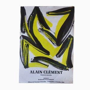 Affiche d'Exposition Alain Clément Vintage