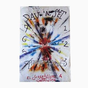 Poster firmato della mostra di Salvador Dalì, 1975