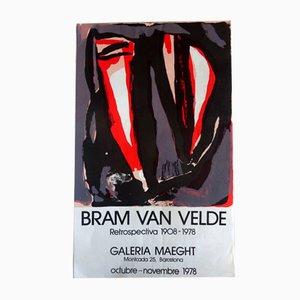 Poster by Bram van Velde, 1978