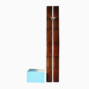 Conjunto de pared y mesa auxiliar Totem pequeño de Ferdinando Meccani