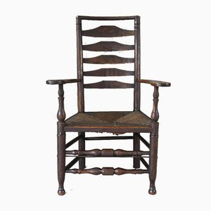 Antique Oak & Elm Ladderback Chair
