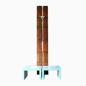 Conjunto de pared y dos mesas auxiliares Totem grande de Ferdinando Meccani