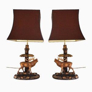 Lampes Cerfs par Rhön Sepp, 1940s, Set de 2