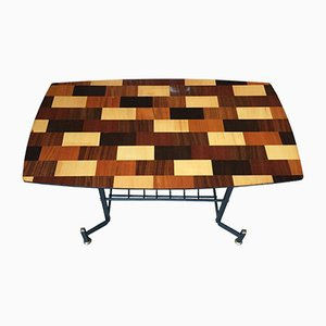 Italian Wood and Iron Coffee Table by S. Cavatorta, 1950s