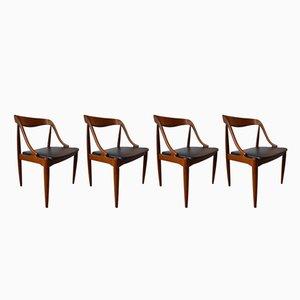 Danish Teak Dining Chairs by Johannes Andersen for Uldum, 1960s, Set of 4