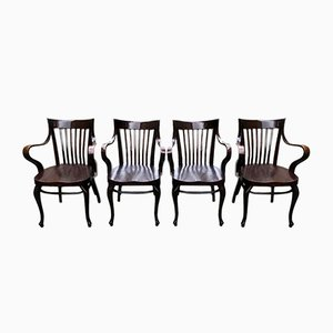 Café Capua Chairs by Adolf Loos for Thonet, 1910s, Set of 4