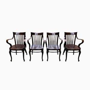Café Capua Stühle von Adolf Loos für Thonet, 1910er, 4er Set
