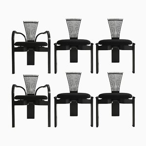 Totem Chairs by Torstein Nielsen for Westnofa, 1980s, Set of 6