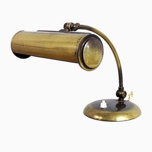 Lámpara de escritorio de metal, años 30