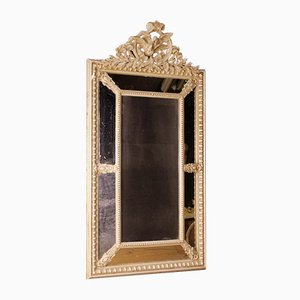 Französischer Vintage Spiegel mit Holzrahmen