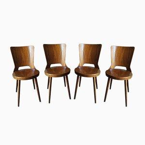 Chaises de Bistrot Mondor de Baumann, 1960s, Set de 4