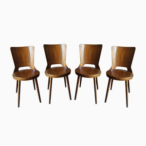 Mondor Bistro Chairs from Baumann, 1960s, Set of 4