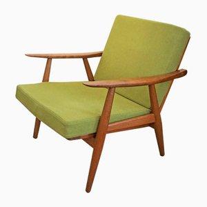 Modell GE 270 Armlehnstuhl aus Teak von Hans Wegner für Getama, 1950er
