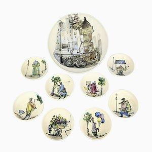 Set di ceramiche di C.A.B- Céramique d'Art de Bordeaux, anni '50
