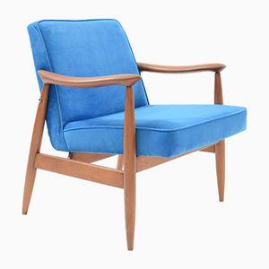 Vintage Blue Armchair by J. Kedziorek