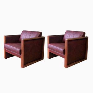 Leather Armchairs from Walter Knoll, 2000s, Set of 2
