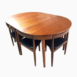 Tavolo e sedie da pranzo Dinette di Hans Olsen per Frem Røjle, anni '50