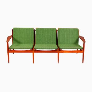 Sofá de tres plazas Mid-Century de Arne Vodder para Glostrup, años 60