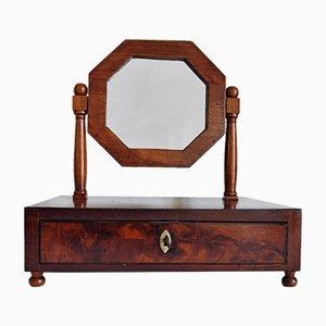 Specchio da tavolo barocco in legno di noce, fine XVIII Secolo