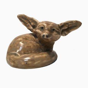 Fennec Fox Sculpture by Édouard-Marcel Sandoz for Susse Frères, 1915