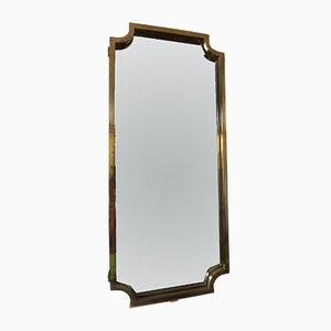 Specchio Art Déco in ottone, anni '40