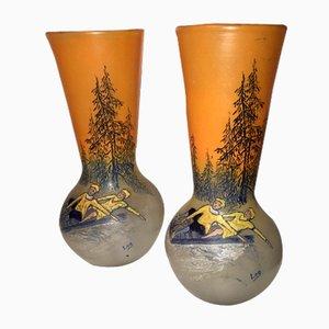 Vases by François-Théodore Legras, Set of 2