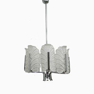 Lámpara de araña Mid-Century de Carl Fagerlund para Orrefors, años 60