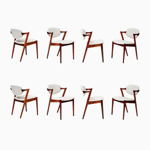 Model 42 Dining Chairs in Rosewood by Kai Kristiansen for Skovmand & Andersen, 1956, Set of 8