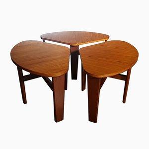 Tavolino da caffè vintage a sezioni, set di 3
