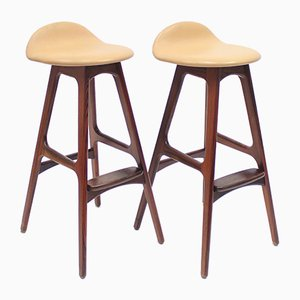 Bar Stools by Erik Buch for Oddense Maskinsnedkeri, 1960s, Set of 2
