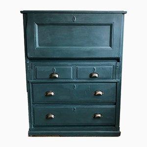 Scrittorio vintage blu marino con cassetti