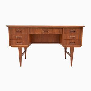 Danish Teak Pedestal Writing Desk, 1960s