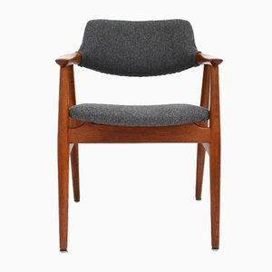 Danish Wool and Teak Armchair by Svend Age Eriksen for Glostrup Mobelfabrik, 1960s
