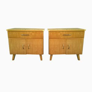 Vintage Nightstands, 1960s, Set of 2
