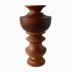 Vintage Wooden Vase, 1960s