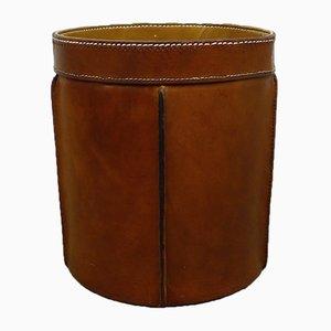 Cowhide Paper Basket, 1960s