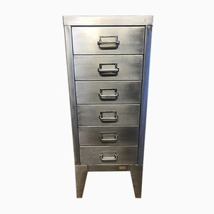 Vintage Industrial Metal Filing Cabinet with 6 Drawers